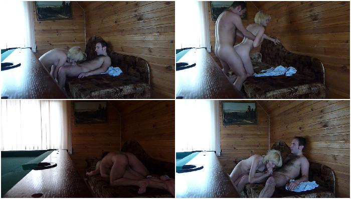 Small tits blonde fucking video in sauna
