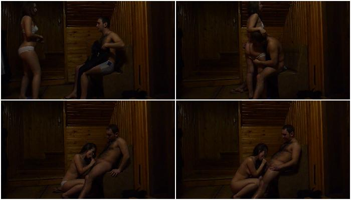 Girlfriend girl fucking in sauna