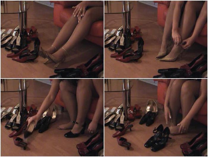 Posing for a Shoe Sale Part 1