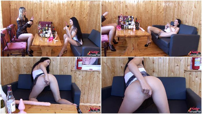 Two naughty girls with toys 1-5