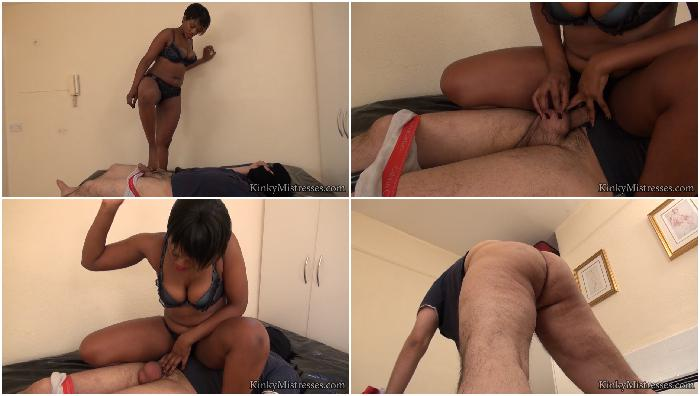 ballbusting on the bed complete hd
