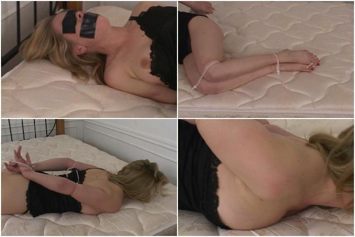 Anna Mills Zip-Tie Bound, Part 5 - Silky Slip Bondage