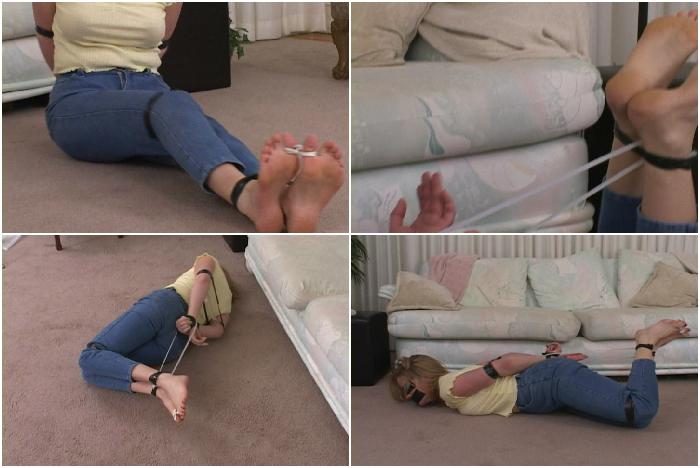 Anna Mills Zip-Tie Bound, Part 3 - Blonde in Bondage