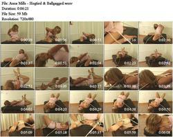 Anna Mills - Hogtied & Ballgagged