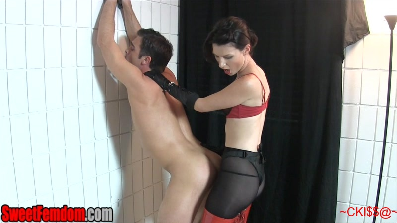 Against the wall dominant deepthroat 6