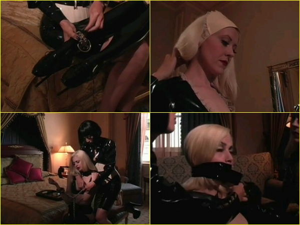 3322 - Female Maid Is Put In Latex Outfit And Shackles.Php_m,