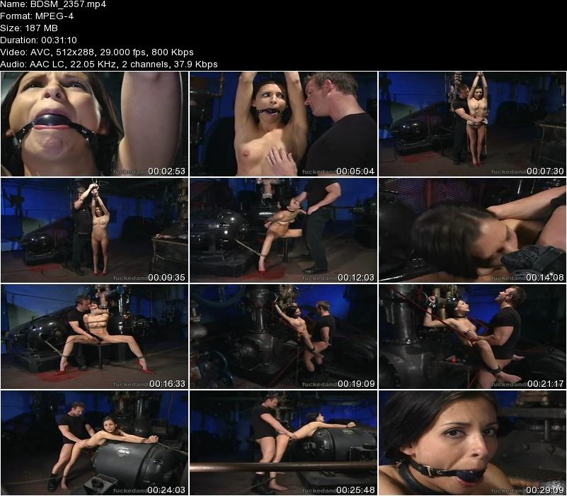 Painful gay bondage torture video