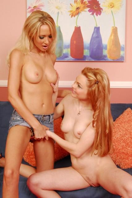 Teen Redhead Gets Dildo Fucked By Milf - Lesbians Sex