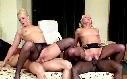 These two blondes have a lot of fun - Fetish Nylons