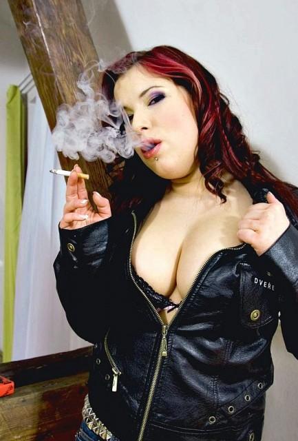 Sweet Smoking in Punk Outfit! - Smoking Sex