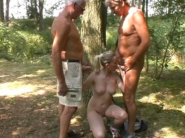Old men fuck cutie in a forest - Old Man and Teen