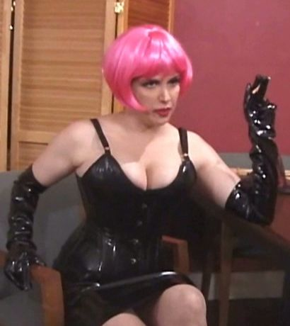 Spanking from chubby latex dom - Latex Sex