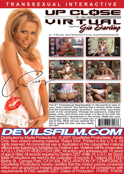 Up Close And Virtual With Gia Darling (2007) - TS Gia Darling
