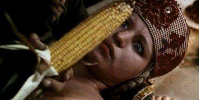 Raped corncobs