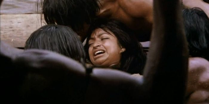 Rape scenes with extreme cruelty