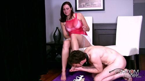 Femdom ball crushing cockmistress angelique