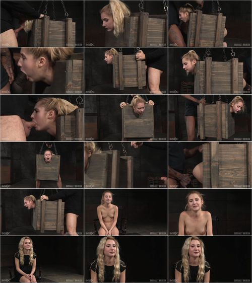 Odette Delacroix - Tiny blonde Odette Delacroix bound inside a box and roughly fucked from both ends by cock! [HD 720p] (SexuallyBroken)