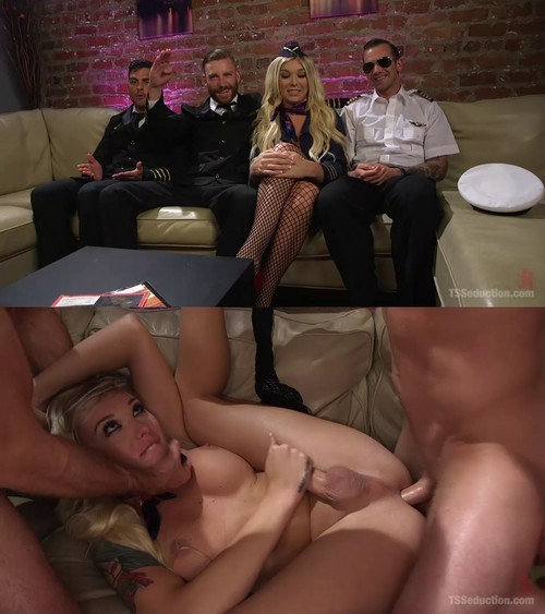 Aubrey Kate - Aubrey Kate's 1st Cockpit Cum Fest Gangbang! [SD 540p] (TsSeduction)