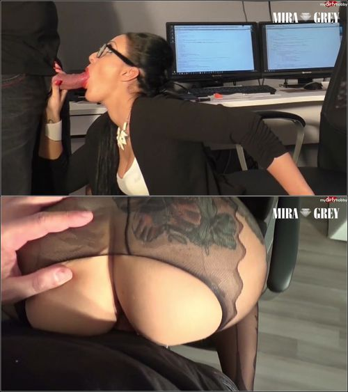 Mira-Grey - Buro - Bitch bekommt XXL Sperma Infusion [HD 720p] (MDH)