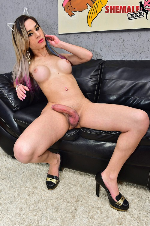 Natalia Castro - Horny Natalia Castro Jacks Her Cock! [HD 720p] (Shemale)