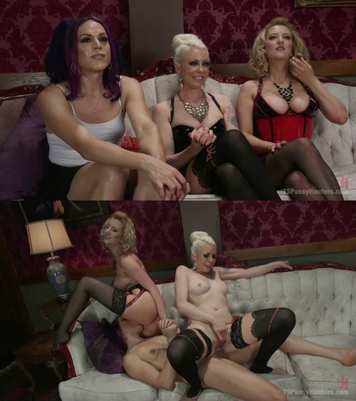 Kelli Lox, Lorelei Lee, Cherry Torn - Kelli Lox is tricked, put in bondage then fucked in front of the world [SD 540p] (TsPussyHunters)