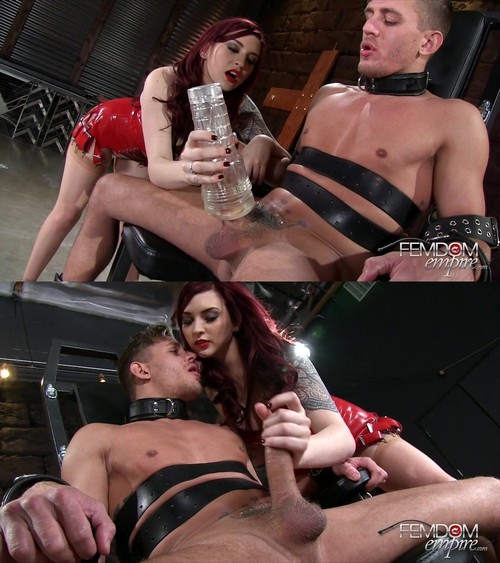 Amber Ivy - Bondage Chair Milking
