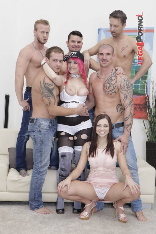 L3g4lP0rn0.com - Proxy Paige & Ornella Morgan - Sperma Party #16 Proxy gets a fluffer, 6 cocks, double anal fist, DAP, TAP. She swallows 11 cumshots GIO139 [HD 720p]