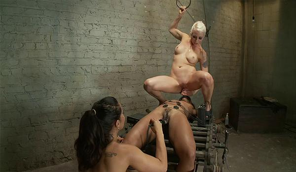 Lesbians forced to worship feet