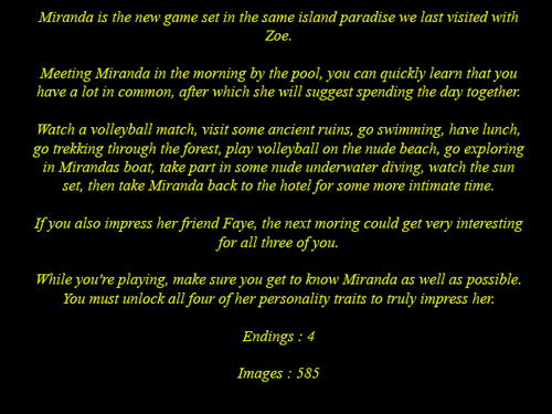 [VdateGames] Virtual Date Games - Miranda (2015)