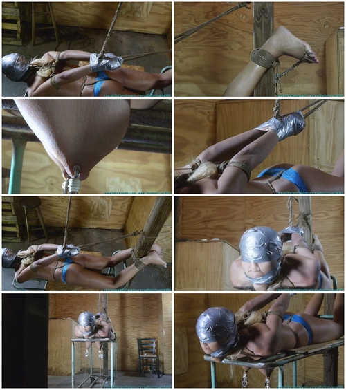 Amanda Foxx Crotchroped, clamped, Tape Hood, Shoe Removal, Toe Tied, Bastinado 4