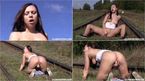 Morgan R – Masturbating and Peeing on a Railroad Track 2016