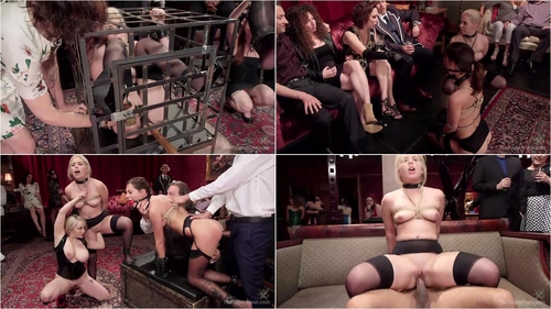 Aiden Starr, Kacie Castle, Rikki Rumor Caged Slut Puppy Slaves 01.04.2016