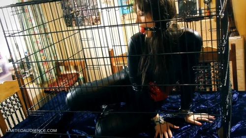 Self Locked and Gagged in Cage starring Sapphire