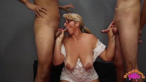 40-year old mom Tracy gets facialized in her first ever porn scene