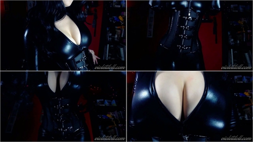 Violet Doll – Catsuit Body Worship