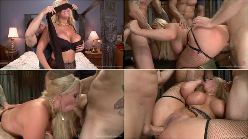 Alura Jenson – Desperate wife gets her gangbang fantasy fulfilled
