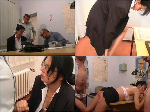From The Secret Files of The People's Police – German Rape in Pantyhose During Interrogation