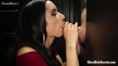 Tia's FIRST Glory Hole Video