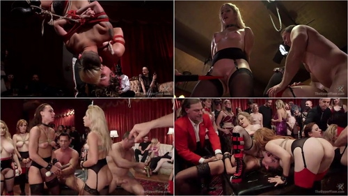 Aiden Starr, Penny Pax, Audrey Holiday, Goldie Rush, Aidra Fox (Slutty Slave Anal Orgy 04.03.2016)