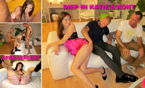 Kim Holland - Bikkelhard anaaltrio met toeriste Katie 720p Cover