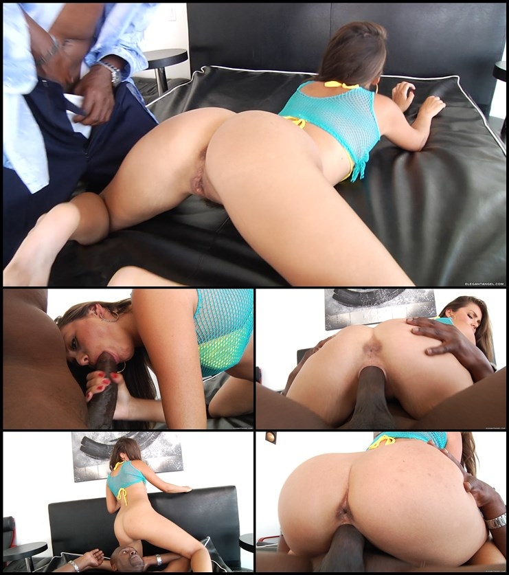 Allie haze takes on a huge bbc 4