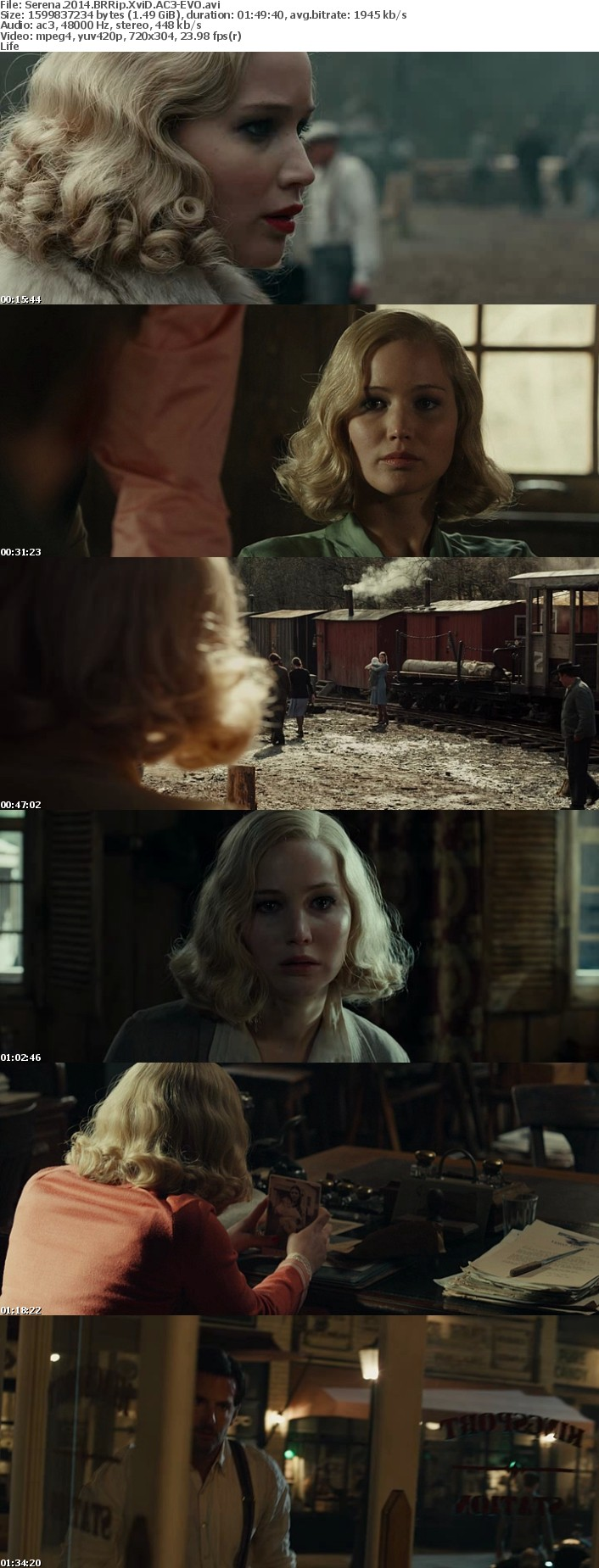 Serena 2014 BRRip XviD AC3-EVO