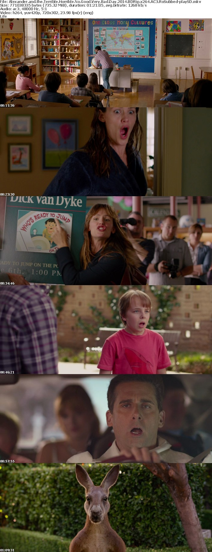 Alexander and the Terrible Horrible No Good Very Bad Day 2014 BDRip x264 AC3 RoSubbed-playSD