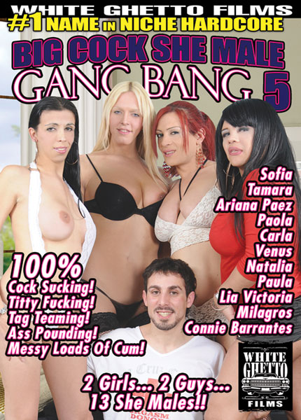 Big Cock She Male Gang Bang 5 (2013) - TS Ariana Paez