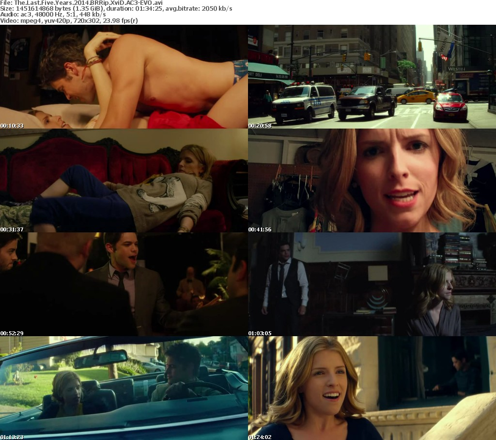 The Last Five Years 2014 BRRip XviD AC3-EV