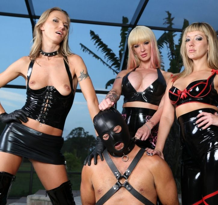 Alexia & Tyler Strap on Masked Slave - Femdom