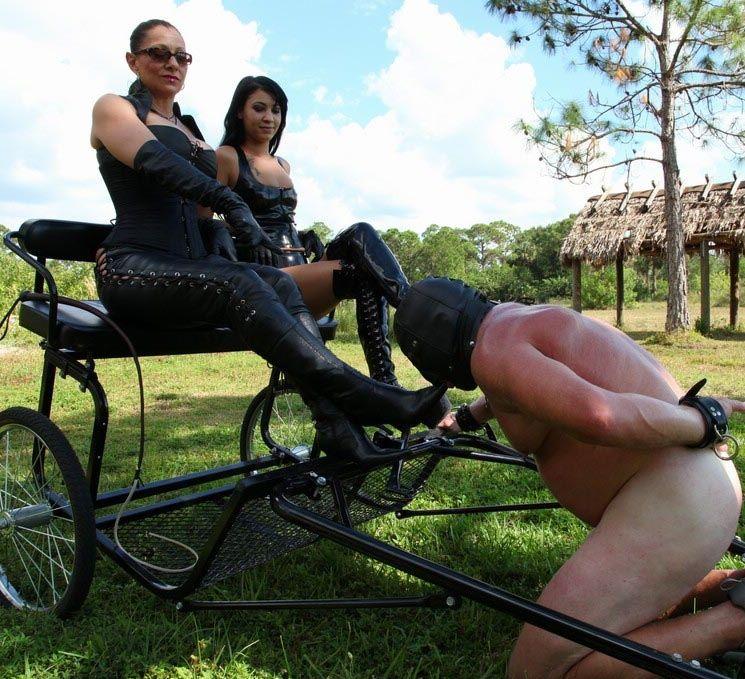 Rachell Strapon Penetrates Slave - Femdom
