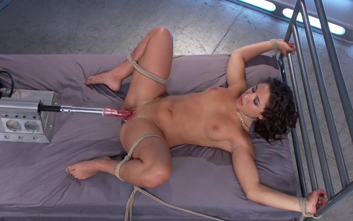 fucked Girl tied up machine and by