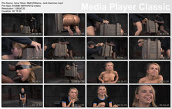 SEXUALLY BROKEN: Aug 7, 2015: Little Alina West blindfolded bound in a box and fucked hard from both ends by huge cock! | Alina West | Matt Williams | Jack Hammer