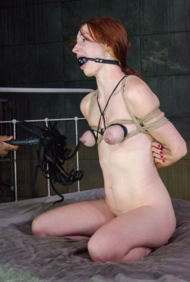 Sexy redhead Violet Monroe strictly bound - Bondage, BDSM
